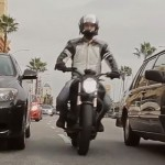 Lane splitting photo.
