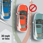 Info graphic from Sacramento Bee article on lane splitting
