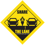 Share The Lane - Lane Splitting Road Sign Sticker