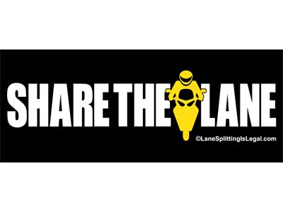 """Share The Lane sticker - 5"""" x 2"""" - lane sharing sticker"""