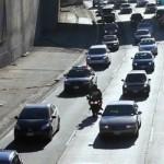Motorcycle Lane Splitting in Los Angelese