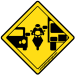 Lane Splitting Road Sign